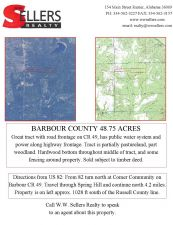 Barbour County 48.75 Acres