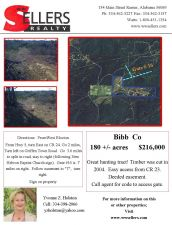 Nice Hunting Tract 180 acres Bibb County