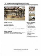 Warehouse on 1 Acre, Sell or Lease, in Montgomery County