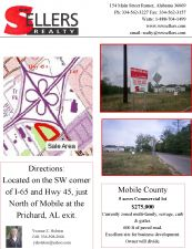 5 acre Commercial Lot, will divide, Mobile