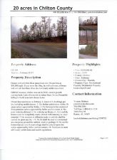 Lots in Chilton County 4-6 +/- acres each